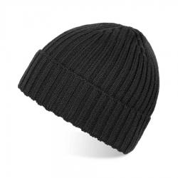 Modna szara czapka zimowa męska