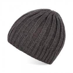 Szara czapka męska na zimę wełniana