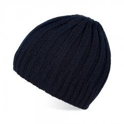Granatowa czapka wełniana paolo peruzzi zimowa