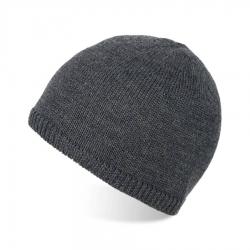 Męska szara czapka zimowa wełniana