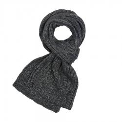 Szary szalik damski na zimę ciepły wełniany