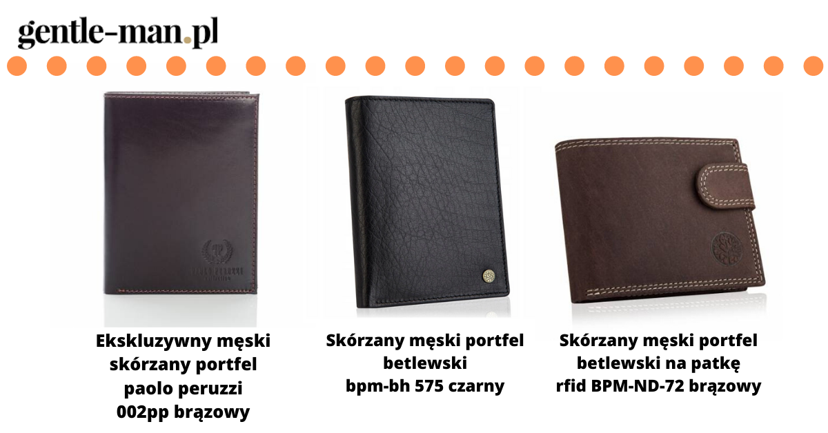 klasyczny męski portfel